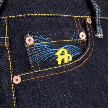 RMC Martin Ksohoh Exclusive Kokuuzou Bosatu YEAR OF THE OX Embroidered Indigo Raw Selvedge Denim Jeans REDM3092