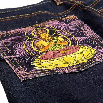 RMC Martin Ksohoh Exclusive Fugen Bosatu YEAR OF THE DRAGON Embroidered Indigo Raw Selvedge Denim Jeans REDM3095