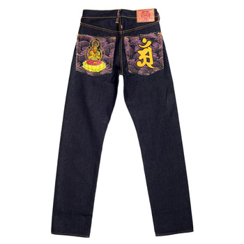 RMC Martin Ksohoh Indigo Raw Selvedge Jeans with Exclusive Fugen Bosatu YEAR OF THE DRAGON Embroidery REDM3095