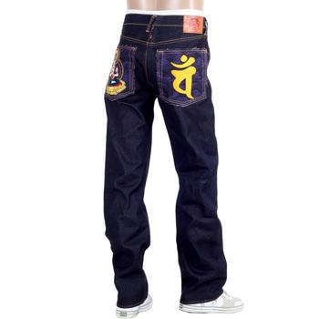 RMC Martin Ksohoh Indigo Raw Selvedge Jeans with Exclusive Dainiti Nyorai YEAR OF THE MONKEY Embroidery REDM3099