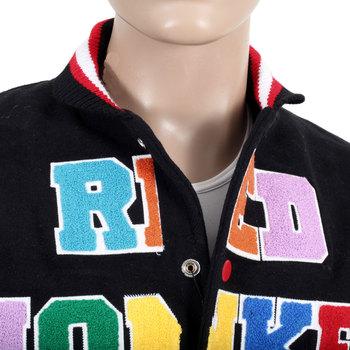 RMC Martin Ksohoh x Yoropiko Vintage Regular Fit Black Quilted Varsity Baseball Jacket for Men REDM3117