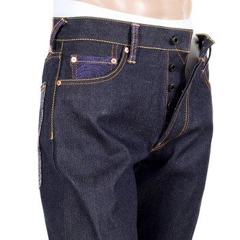RMC Martin Ksohoh Genuine Dark Indigo Vintage Cut Raw Selvedge Denim LUCKY CAT Embroidered Jeans REDM3255
