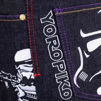 Yoropiko Exclusive and Rare Collectors Dark Indigo Raw Selvedge Embroidered Star Wars Denim Jeans YORO3799