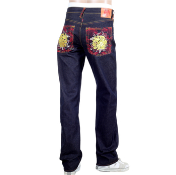 RMC Jeans Genuine Exclusive Greedy Golden Monkey Embroidered Vintage Raw Selvedge Jeans REDM9065