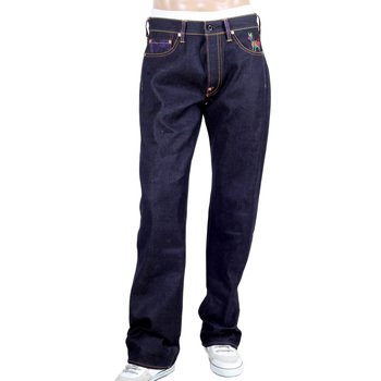 RMC Jeans Authentic Very Exclusive Horse and Sword Embroidered Vintage Dark Indigo Raw Selvedge Jeans REDM9070