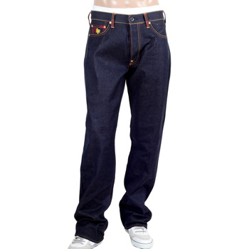 RMC Jeans Authentic Seisi Bosatu YEAR OF THE HORSE Embroidered Vintage Dark Indigo Raw Selvedge Jeans REDM9076