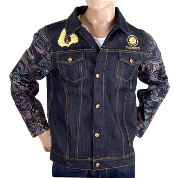Yoropiko Jay-Z Exclusive Limited Edition Vintage Cut Raw Selvedge Embroidered Denim Jacket YORO9174