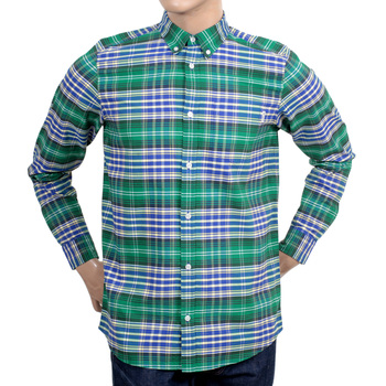 Carhartt Long Sleeve Regular Fit Red and Blue Resolution Lavitt Check Shirt with Pearlised Buttons CARH4965