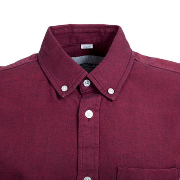 Carhartt Regular Fit Dalton Cranberry Long Sleeve Shirt with Pearlised Buttons and Single Chest Pocket CARH5621
