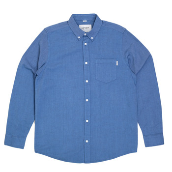 Sky Blue Long Sleeve Regular Fit Dalton Shirt for Men from Carhartt Clothing with Single Chest Pocket CARH5619