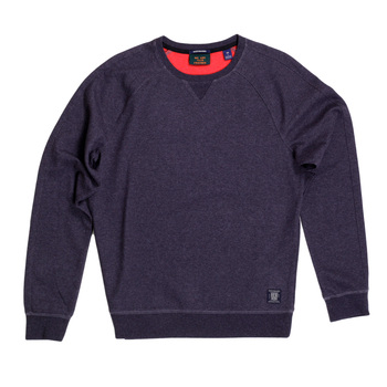 Scotch and Soda Regular Fit Plum Sweatshirt for men with Crew Neck and Raglan Seamed Sleeves SCOT6785