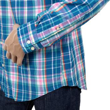 Gant Birdie Madras Check Regular Fit Cotton Long Sleeve Button Down Collar Casual Shirt for Men GANT6203