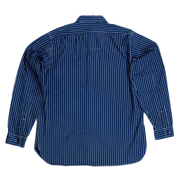 Sugar Cane Fiction Romance Collection Long Sleeve Slim Fit 8.5-Ounce Navy Striped Wabash Work Shirt CANE7546