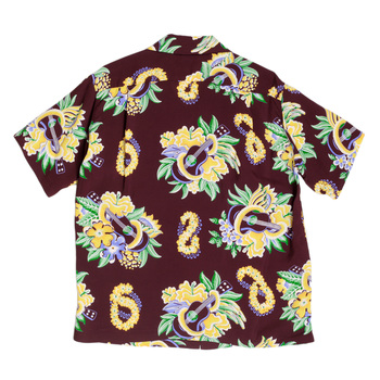 Sun Surf Hawaiian Macintosh Ukulele Printed Wine Regular Fit Short Sleeved Shirt for Men SURF7533
