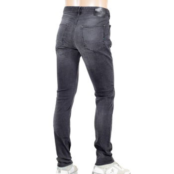 Scotch and Soda Skim Skinny Fit Washed Black Denim Fallen Hero Jeans with Zip Fly SCOT6376