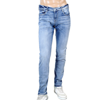 Atomic Rush Slim Carrot Fit 135106 Worn Faded TYE Washed Blue Stretch Denim Jeans by Scotch & Soda SCOT6968