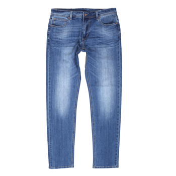 RMC Jeans Stretch Cotton Mix Slim Fit RPQ16135 Light Blue Washed Denim Jeans with Button Fly RMC7521