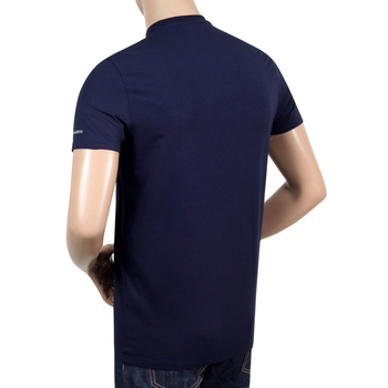 Dsquared2 Navy Slim Fit Grey Text Sleeve Logo Printed Crew Neck Short Sleeve T-Shirt for Men DSQ27848