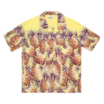Sun Surf Mens Yellow Pineapple Hawaiian Shirt SURF7569