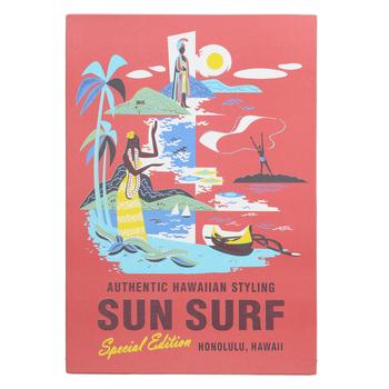 Sun Surf SS36985 Limited Edition Regular Fit Short Sleeve Hawaiian Shirt with Purple Heart Battalion Print SURF7570