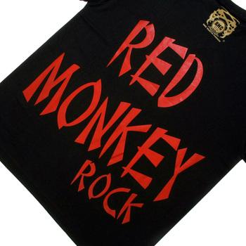 RMC Jeans Black Crew Neck Short Sleeve Regular Fit T-Shirt with Rock Print REDM0036