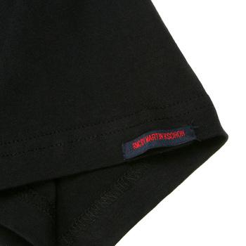 RMC Martin Ksohoh Crew Neck Short Sleeve Regular Fit Scarlet Red Logo Printed T-shirt in Black REDM0130