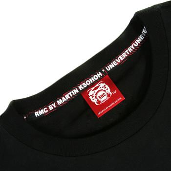 RMC Martin Ksohoh 100% Cotton Black Crew Neck Regular Fit Enjoy RMC Printed Short Sleeve T-shirt REDM3478