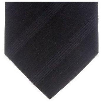 Giorgio Armani Tie Woven silk black stripe tie