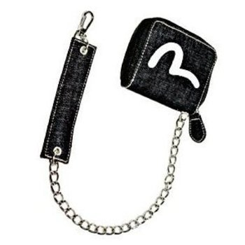 Evisu Denim Chain Purse with Key Chain and Strap For Women EVIS0366