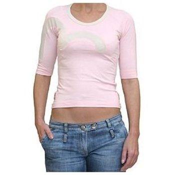 Evisu Insert Logo Half Sleeve Stretch T-shirt In Pink Rose EVIS0488