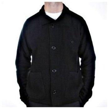 Massimo Osti jacket long sleeve black knitted cardigan jacket