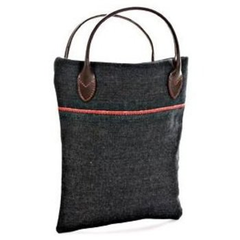 Evisu Selvedge Denim Mini Shopper Bag for Women with Leather Handles EVIS8343