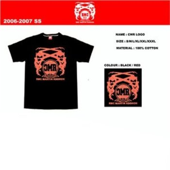 RMC Jeans Red Logo CMR Print 2006-2007 SS Black Short Sleeve Crewneck T-Shirt CMRTEE