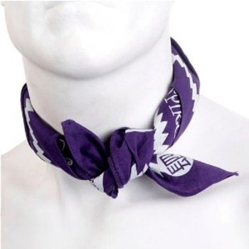 Yoropiko Cotton Logo Printed Purple Bandana YORO2963