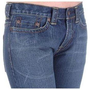 Evisu Womens Dark wash Low Waist Straight Leg Denim Jeans EVIS2442