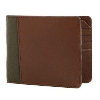 Armani Jeans leather/canvas wallet AJM4001