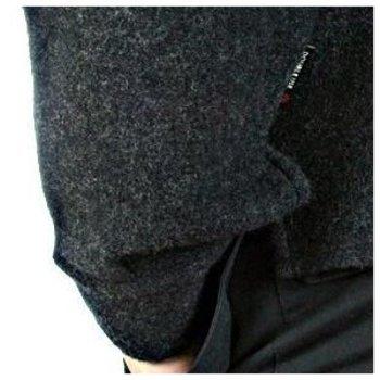 Massimo Osti jacket long sleeve knitted melange grey jacket