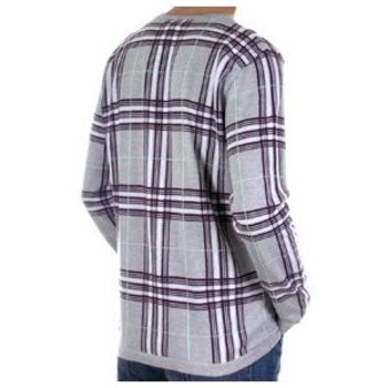 Burberry Fine Knitwear light grey with black white & red check