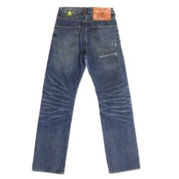 Yoropiko Martin Yat Ming Vintage Cut Exclusive Design Worn Finish Washed Denim Jeans YORO5433
