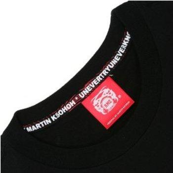 RMC Martin Ksohoh Rainbow Logo Printed Black Short Sleeve Crew Neck Regular Fit T Shirt REDM0073