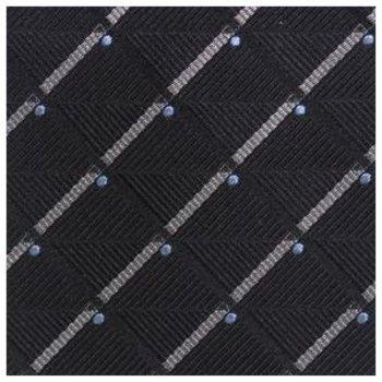 Giorgio Armani Woven black silver silk tie