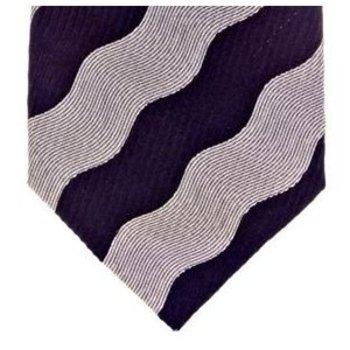 Giorgio Armani Tie Woven silk navy tie