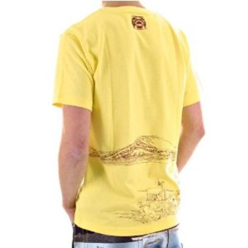 RMC Jeans Exclusive Genuine and Authentic Yellow TOYO STORY PORTER Short Sleeve Cotton T Shirt REDM5932
