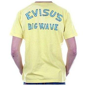 Evisu European Edition Short Sleeve Crew Neck Cotton Yellow Regular Fit T-shirt EVIS3103