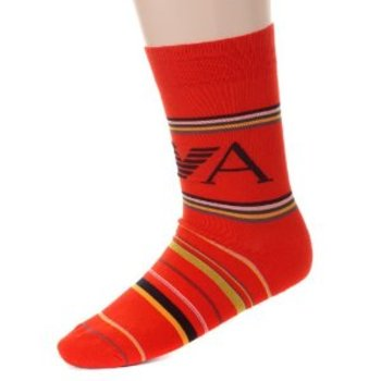 Emporio Armani Socks red striped cotton socks EAM1639