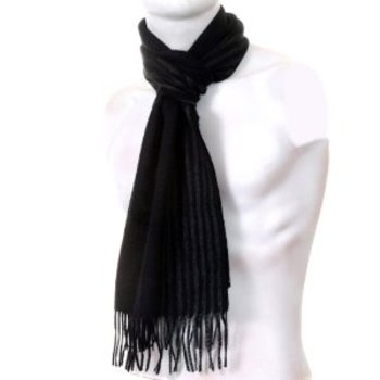 Hugo Boss Hevan grey striped scarf BOSS0815