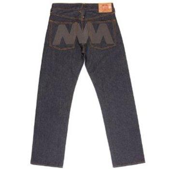 RMC Martin Ksohoh x 4A LIKE BLACK charcoal embroidered denim jeans REDM3780