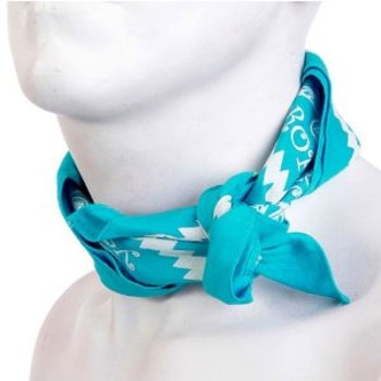 Yoropiko Cotton Sky Blue Bandana With Printed Logo YORO2959