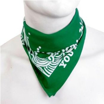 RMC Jeans 100% Cotton Mens Green Printed Bandana RMC Jeans2918