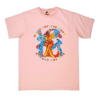 RMC Jeans Pink Regular Fit Short Sleeve Crew Neck T-Shirt with Shehana Yogahar Flower Print REDM6396